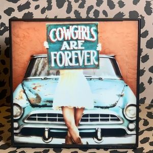 Cowgirls Are Forever Decorative Frame